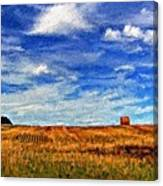 Autumn Sky Impasto Canvas Print