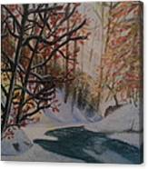 Autumn Snow Canvas Print