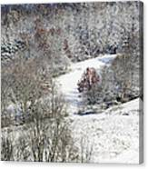 Autumn Snow West Virginia Canvas Print
