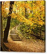 Autumn Stairs Canvas Print