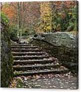 Autumn Stone Staircase Canvas Print
