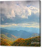 Autumn Storm Over The Great Smoky Mountains National Park Canvas Print