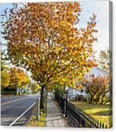 Autumn Stroll In Mystic Canvas Print