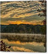 Autumn Sunrise At The Lake Canvas Print