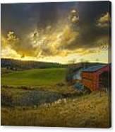 Autumn Sunset Over Meech Creek And Canvas Print