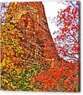 Autumn View Along Zion Canyon Scenic Drive In Zion National Park-utah Canvas Print