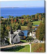Autumn View On Mackinac Island Canvas Print