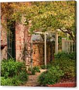 Autumn Walk In Pinehurst Canvas Print