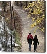 Autumn Walk On The C And O Canal Towpath Canvas Print
