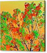 Autumn Watercolor Painting Canvas Print