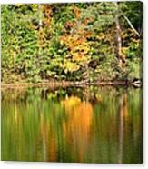 Autumn Watercolor Reflections Canvas Print