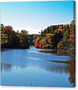Autumn Waterway Canvas Print