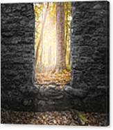 Autumn Within Long Pond Ironworks - Historical Ruins Canvas Print