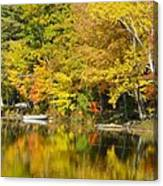 Autumn Yellow Reflections Canvas Print