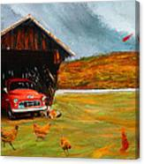 Autumnal Restful View-farm Scene Paintings Canvas Print