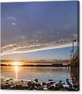 Autumnal Sunset At Del Norte Pier Canvas Print