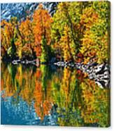 Autumn's Beauty Reflected Canvas Print