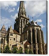 Autun Cathedral View Burgundy Canvas Print