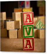 Ava - Alphabet Blocks Canvas Print