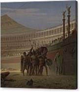 Ave Caesar Morituri Te Salutant , 1859 Canvas Print