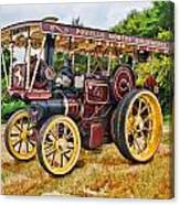 Aveling And Porter Showmans Tractor Canvas Print