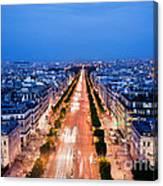 Avenue Des Champs Elysees In Paris Canvas Print