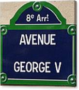 Avenue George Le Cinq  Canvas Print