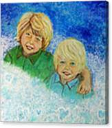 Avery And Atley Angels Of Brotherly Love Canvas Print
