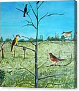 Aves En Comarca Del Sol Canvas Print