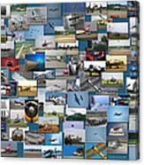 Aviation Collage Canvas Print