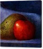 Avocado And Tomato Canvas Print