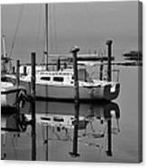 Avon Harbor Calm Reflection Bxw 1/13 Canvas Print