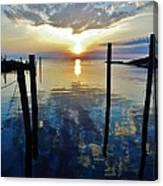 Avon Harbor Sunset Reflections 7/26 Canvas Print