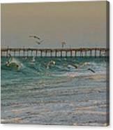Avon Pier And Birds 7/30 Canvas Print