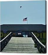 Avon Pier Front Ramp 7/03 Canvas Print