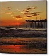 Avon Pier Hatteras Sunrise 1 1/15 Canvas Print