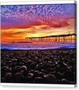 Avon Pier Shells Sunrise Canvas Print