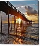 Avon Pier Sunrise 5 8/06 Canvas Print