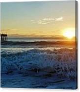 Avon Pier Sunrise 6 10/17 Canvas Print