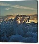 Avon Pier Sunrise Wave Splash 9/08 Canvas Print
