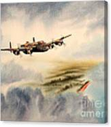 Avro Lancaster Over England Canvas Print