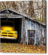 Awaiting The Road Canvas Print