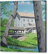 Award-winning Painting Of Beckman's Mill Canvas Print
