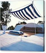 Awning At The Vacation Home Of Gaston Berthelot Canvas Print