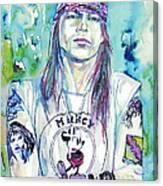 Axl Rose Portrait.1 Canvas Print