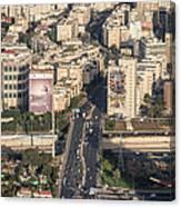 Ayalon Freeway And The Halacha Bridge Canvas Print