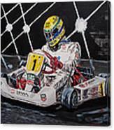Ayrton Senna Karting Canvas Print