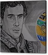 Ayrton Senna Portrait Canvas Print