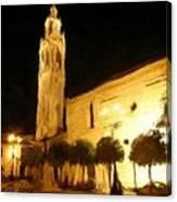 Ayuntamiento Por La Noche Canvas Print