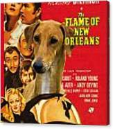 Azawakh Art - The Flame Of New Orleans Movie Poster Canvas Print